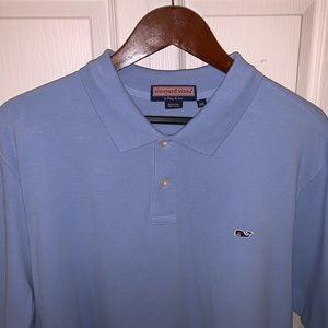 Men's VINEYARD VINES Blue Polo Golf Shirt XXL 2XL!